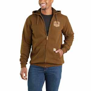 Midweight Chest Graphic Full-Zip Hooded Sweatshirt 103868